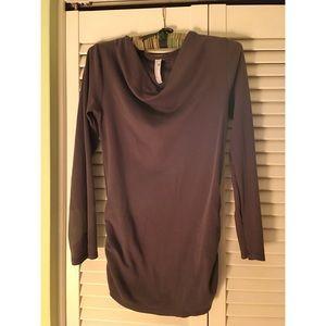 indigenous Tops - Dark gray Indigenous drape neck knit top.